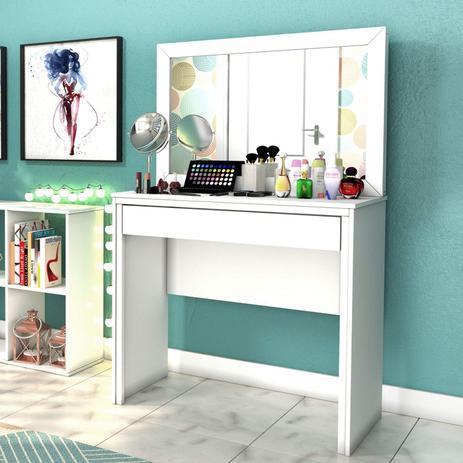 Imagem de Penteadeira Com Espelho 1 Gaveta Twister Tcil Móveis Neve