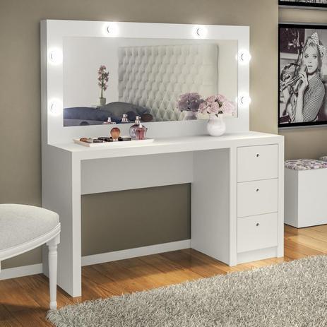 Penteadeira com espelho tecno mobili pe2001 branco for Mobili quarto
