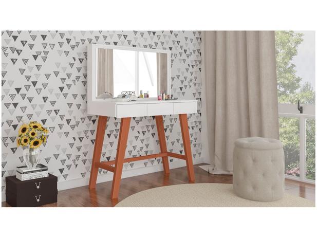 Penteadeira de Torre com Espelho 3 Gavetas - Politorno Ipanema