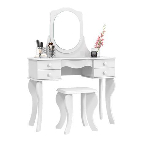 Imagem de Penteadeira Princesa com Espelho Branca