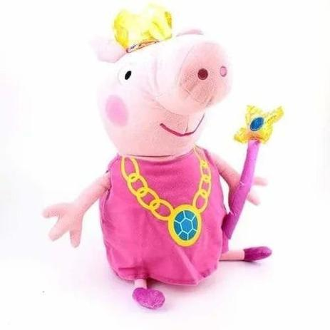 Imagem de Peppa Pig Pelúcia Peppa Pig Papai George Mamãe Princesa Dtc