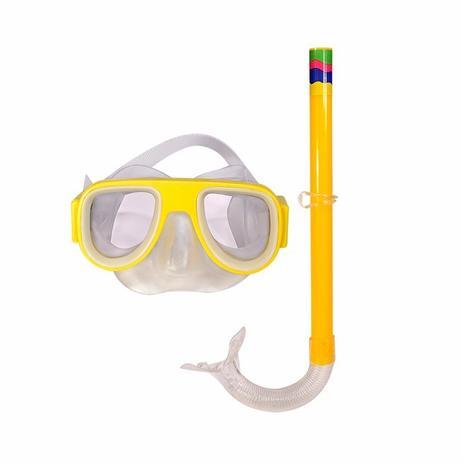 Imagem de Pesca Mergulho Juvenil Mascara Respirador Snorkel Verde