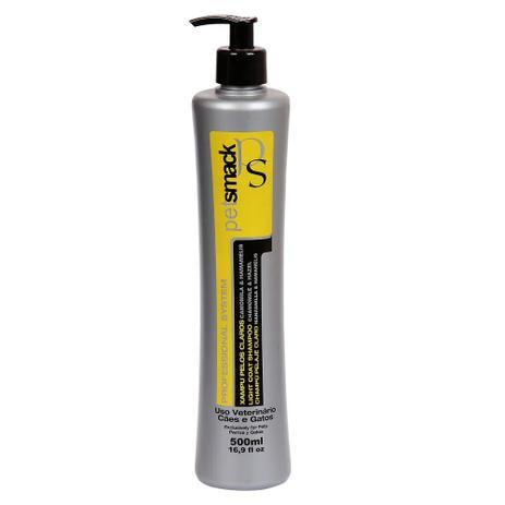 Imagem de Pet Smack shampoo pelos claros para cães e gatos 500 ml