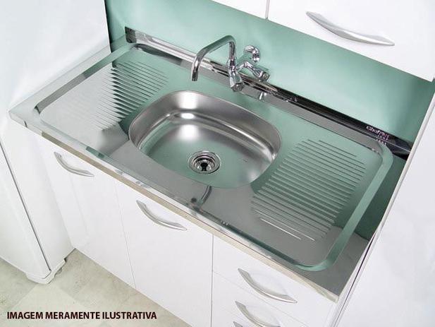 Imagem de Pia de Cozinha Inox 105x52cm