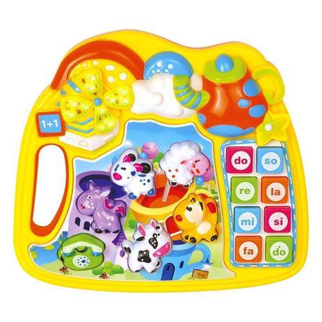 Imagem de Pianinho Infantil Educativo com Músicas Sons de bichos e Jogo