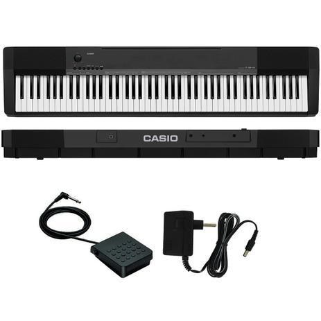 1313cc6e20c Piano Digital Casio CDP-135 88 Teclas Preto Com Pedal SP-3 Lançamento 2018