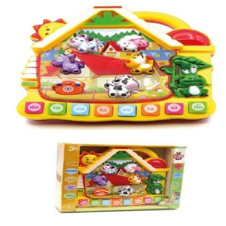 Imagem de Piano teclado musical 3 em 1 bebe infantil com som dos animais e da natureza com iluminacao e musica