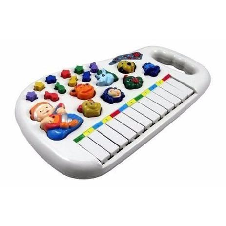 Imagem de Piano Teclado Musical Infantil Bebe Sons Animais Eletronico