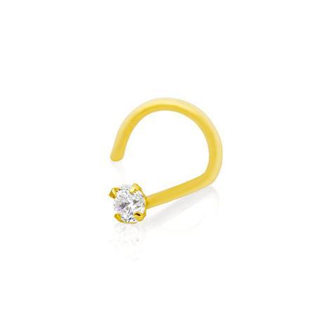 Piercing de Nariz de Ouro 18k com Zircônia ac07001 - Joiasgold ... 3829860921