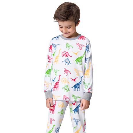 e4711b9265 Pijama dinossauros manga longa infantil - notre dame - Veggi ...