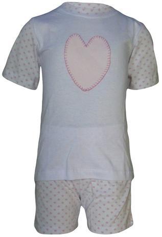4e2e6692b67768 Pijama Infantil Coração - Nenêkids