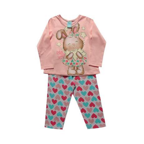 29849e2be Pijama infantil menina manga longa Coelhinha - Kyly - Pijama ...
