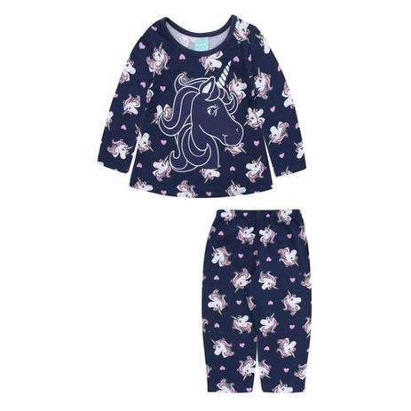f4f57cfd4 Pijama Infantil Menina Manga Longa Unicórnio - Kyly - Pijama ...