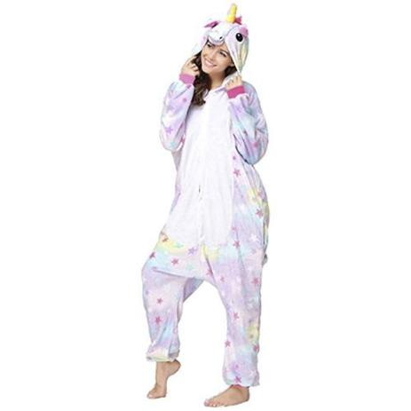 dd9079915a1e08 Menor preço em Pijama Kigurumi Unicórnio Estrelinha - Fantasia de unicórnio