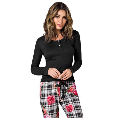 4356f1f3f Pijama manga longa c  abertura adulto -trocadero - Veggi - Roupão ...