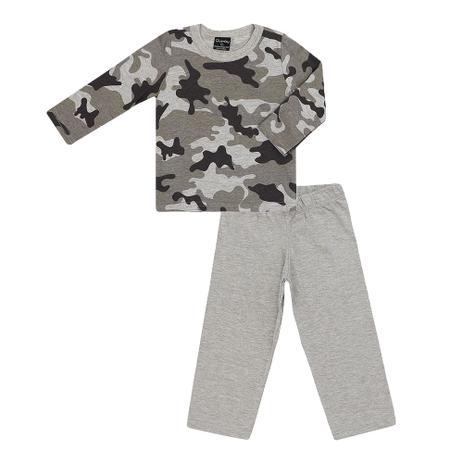 3b6ef99cb4 Pijama Masculino Camiseta e Calça Malha Camuflado - Quimby - Roupa ...