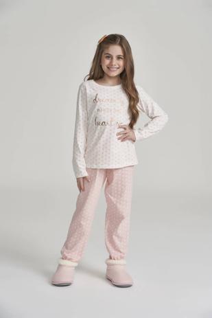 Pijama Menina Manga Longa Rosa Mini Corações - Cor Com Amor - Outros Moda e Acessórios - Magazine Luiza
