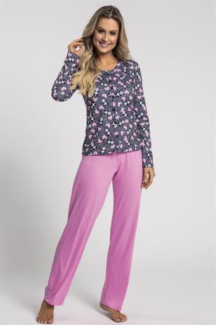 20cf90e6960acd Pijama Recco de Malha Touch e Viscose - Baunilha