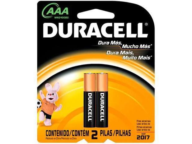 Pilhas Alcalina AAA 1200mnAh 2 Unidades - Duracell
