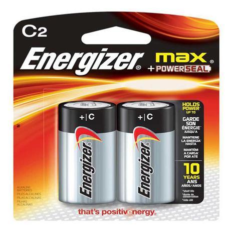 Imagem de Pilhas Energizer Max C2 Alcalínas Cartela com 2 Pilhas