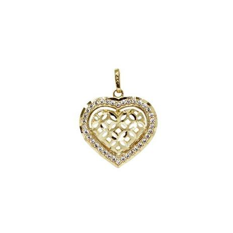 Pingente Coração Ouro 18k Zircônias - cod.7653 - Retran joias ... 9893a71c4f