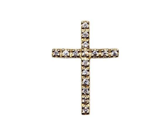 bbc8d8753ab35 Pingente cruz ouro 18k zircônias - Retran joias - Pingente ...