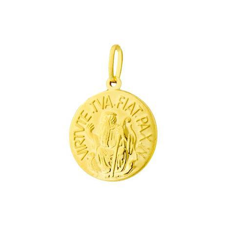 Pingente de Ouro 18k com Medalha de São Bento pi15843 - Joiasgold ... 9d136e3fae