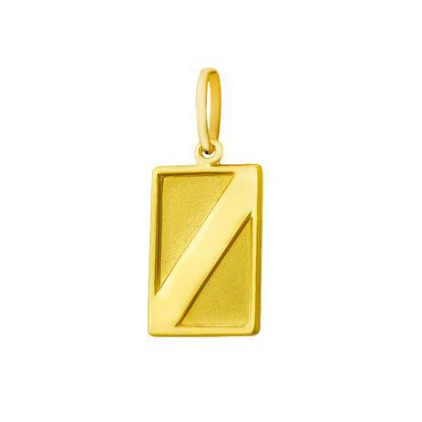deeea7d6061 Pingente de Ouro 18k com Placa Retangular pi12333 - Joiasgold ...