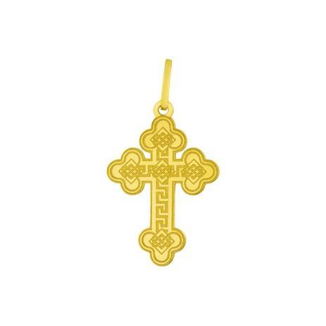 e921c175534 Pingente de Ouro 18k Cruz Trabalhada pi17053 - Joiasgold - Pingente ...