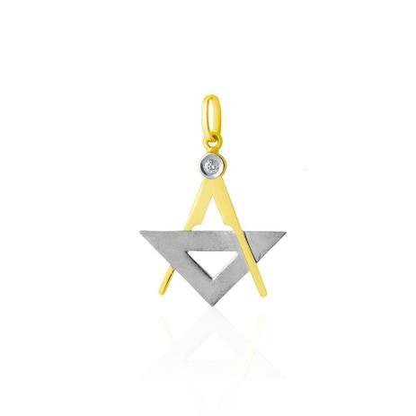 Pingente Em Ouro 18k De Formatura Com Símbolo De Arquitetura Joiasgold 45d3050b0f