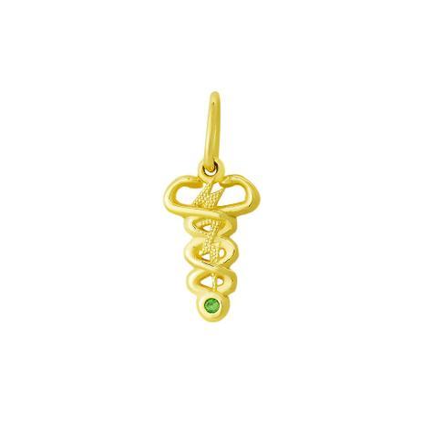 Pingente de Ouro 18k de Formatura com Símbolo de Fisioterapia - Joiasgold 4a7c396a5e