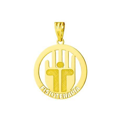 2390050d8bd2b Pingente de Ouro 18k de Formatura com Símbolo de Fisioterapia pi17326 -  Joiasgold