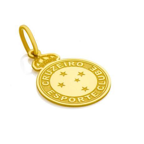 Pingente de Ouro 18k Escudo Cruzeiro Esporte Clube M pi17457 - Joiasgold 3c9602621ef5a