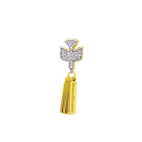 Pingente de Ouro 18k Espírito Santo com Placas 7 Dons pi17562 - Joiasgold a55fb26bd8