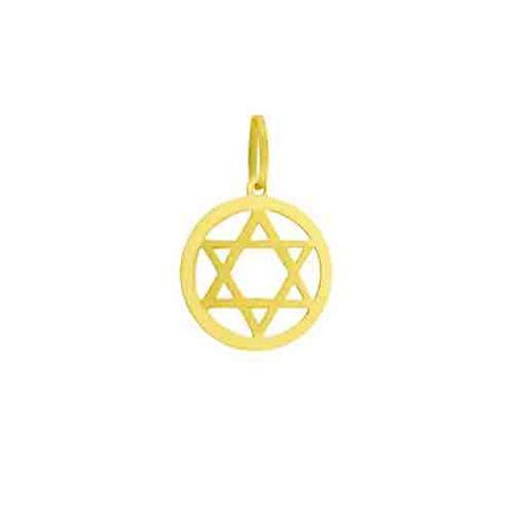 ce4054c6c9742 Pingente de Ouro 18k Estrela de Davi pi18060 - Joiasgold - Pingente ...