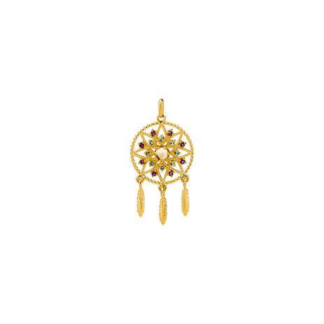Pingente de Ouro 18k Filtro dos Sonhos com Pedras Preciosas pi18718 -  Joiasgold 76a5a8435e