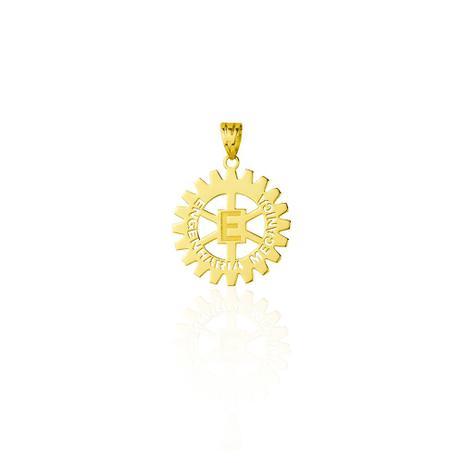 Pingente de Ouro 18k Formatura com Símbolo Engenharia Mecânica pi18068 -  Joiasgold d3960596bf