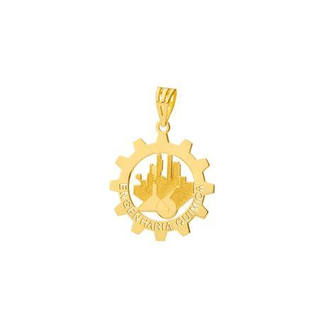 Pingente de Ouro 18k Formatura com Símbolo Engenharia Química . c8fc03d3f0