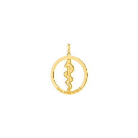 8c7b3d6590ac2 Pingente de Ouro 18k Formatura Medicina Personalizável pi18480 - Joiasgold