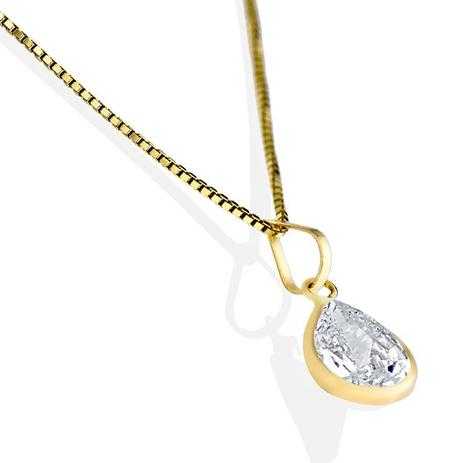 Pingente de Ouro 18k Gota de Zircônia pi02999 - Joiasgold - Pingente ... 9b5d7d12a3