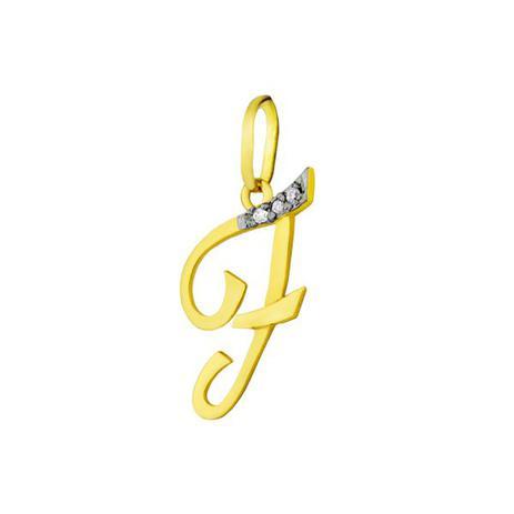 3f7f4cb9070fa Pingente de Ouro 18k Letra F com diamantes pi16530 - Joiasgold ...