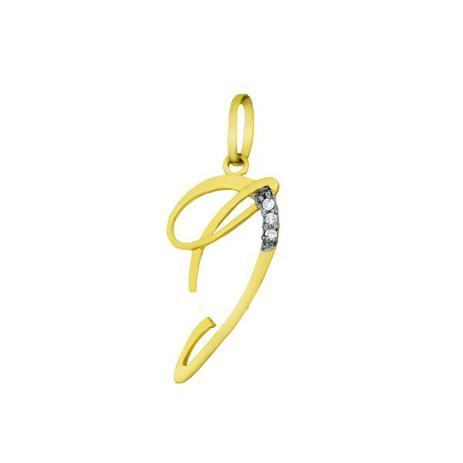 37d36c26c7a39 Pingente de Ouro 18k Letra J com diamantes pi16531 - Joiasgold ...