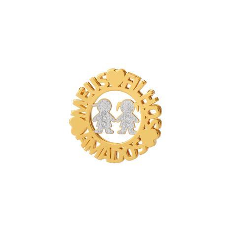 Pingente de Ouro 18k Mandala Casal de Filhos pi18367 - Joiasgold ... dd334ea5a9