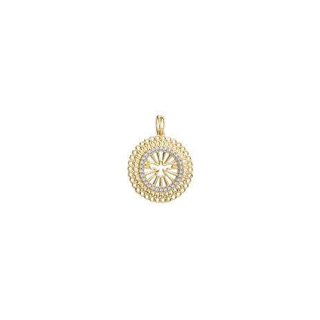 f1b359d022432 Pingente de Ouro 18k Mandala Divino com Zircônia pi18923 - Joiasgold ...
