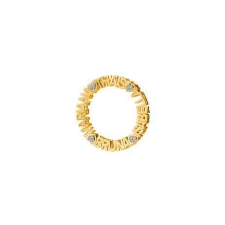 579c95be75baa Pingente de Ouro 18k Mandala Nome até 25 Letras com Diamantes pi18593 -  Joiasgold