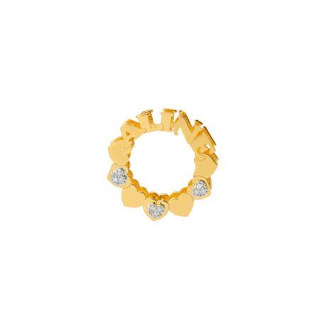 Pingente de Ouro 18k Mandala Nome até 5 Letras com Diamantes pi18592 -  Joiasgold 4ed97cc90c
