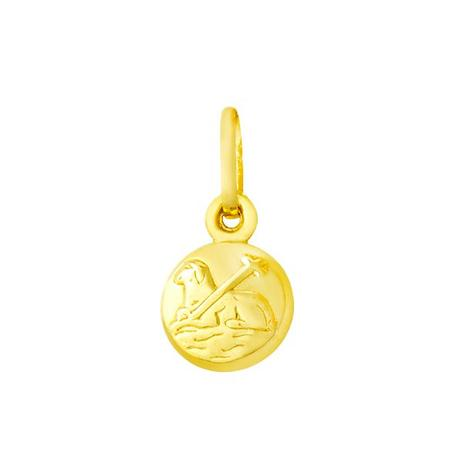 8c92ffb7ed0f3 Pingente de Ouro 18k Medalha Agnus Dei pi09570 - Joiasgold ...