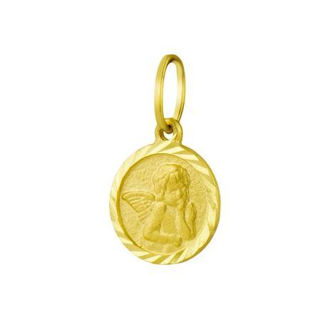 9fcc44f4be178 Pingente de Ouro 18k Medalha Anjo da Guarda pi16132 - Joiasgold ...