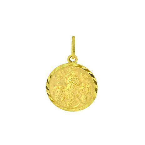 Pingente de Ouro 18k Medalha de N. Sra. Desatadora dos Nós pi00665 -  Joiasgold 5d3192cec6