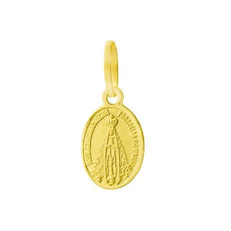 Pingente de Ouro 18k Medalha de Nossa Senhora Aparecida pi06793 - Joiasgold 7988b2d0e4